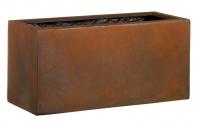 Fiberglas Blumenkasten Esteras Rushden rust 77cm lang