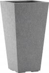 Fiberglas Pflanzgefäß Esteras Surrey Basalt Grey 47cm hoch