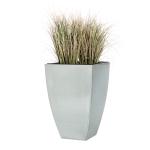 "Casa Mina 5020110-2T Zink Blumenkübel Pflanzenkübel ""Peking"" silber 60cm"