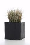Polyrattan Blumenkübel Java 47cm schwarz