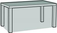 Eigbrecht 140189 Abdeckhaube Schutzhülle für Gartentisch, rechteckig 180x95x70cm