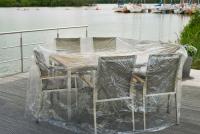 Eigbrecht 142242 Abdeckplanen für Gartenmöbel oval für Sitzgruppe, 210x250x90cm