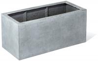 Fiberglas Blumenkasten Esteras Sandal betonfarben 80cm lang