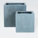 "Fiberstone Pflanzkübel ""Block"" grau 40x40x40cm"
