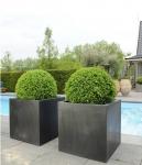"""Fiberstone Pflanzkübel """"Block"""" schwarz 60x60x60cm"""