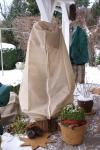 Pflanzen Winterschutz Vlieshaube mit Reißverschluß 130x160cm