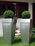 """Zink Blumenkübel """"Shanghai"""" 2er Set silber 70cm"""