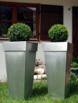 """Zink Blumenkübel """"Shanghai"""" 2er Set silber 90cm"""