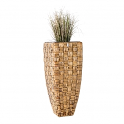 Blumenkübel Übertöpfe Pflanzkübel Wasserhyazinthe Madras WWB braun 30cm