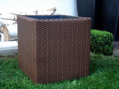 polyrattan blumenk bel java 27cm braun. Black Bedroom Furniture Sets. Home Design Ideas