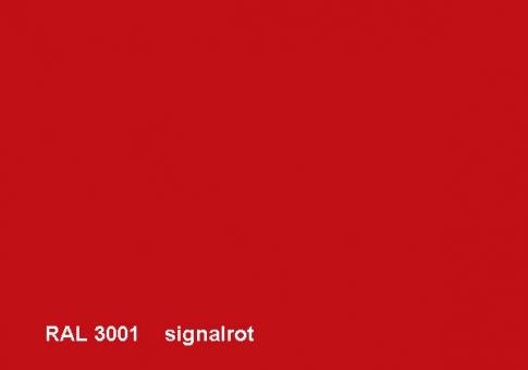 Fiberglas Blumenkübel Cube Hochglanz 40cm Signalrot RAL 3001