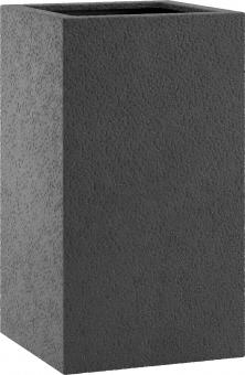 Fiberglas Pflanzkübel Esteras Dundee Basalt Black 67cm hoch