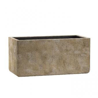Emsa Fiberglas Blumenkasten Esteras Ulster old stone brown 77cm