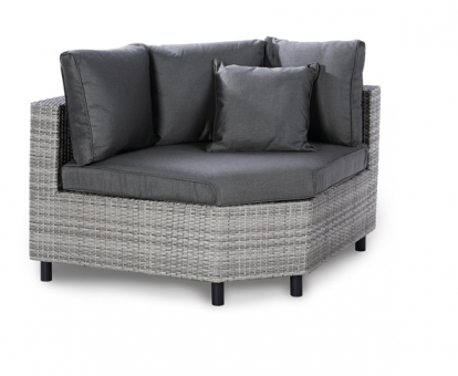Best Lounge Sessel Bonaire Eckteil groß warm grey