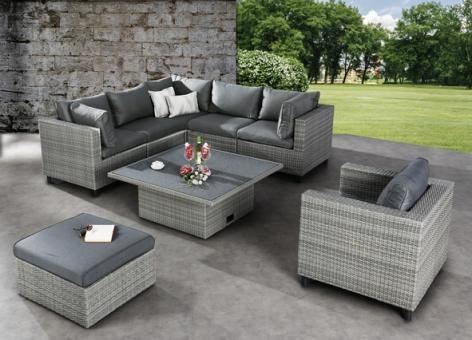 Best Lounge Set Bonaire 6-teilig warm grey