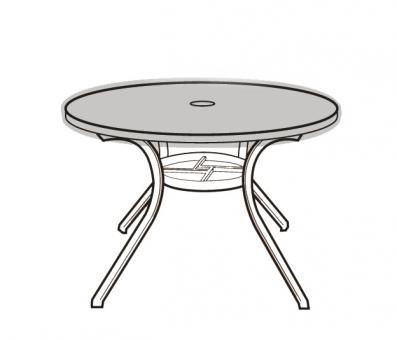 Eigbrecht 142277 Klarsicht Abdeckhaube Schutzhülle für Tischplatten oval, ohne Abhang 175x100cm