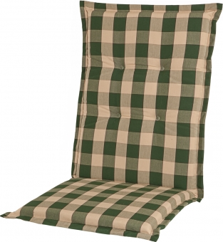Polsterauflage Comfort Karo grün Dessin 1004
