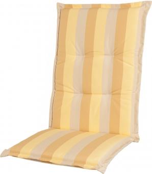 Sitzauflage Comfort Streifen pastellgelb Dessin 1208
