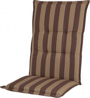 """Casa Mina Polsterauflage Sitzauflage """"Comfort Streifen"""" schoko, Dessin 1202"""