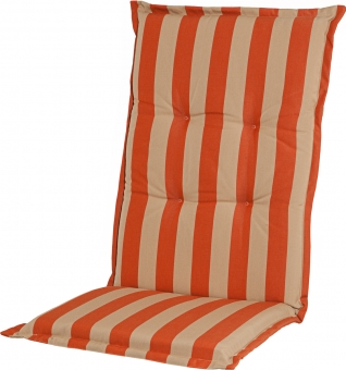 Sitzauflage Comfort Streifen terracotta, Dessin 1204