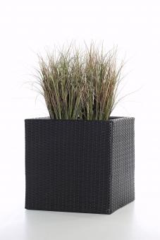 Polyrattan Blumenkübel Java 37cm schwarz