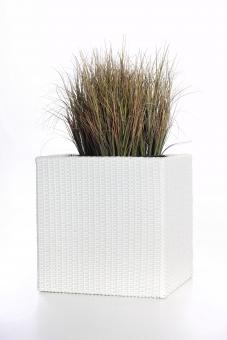 Polyrattan Blumenkübel Java 27cm weiß
