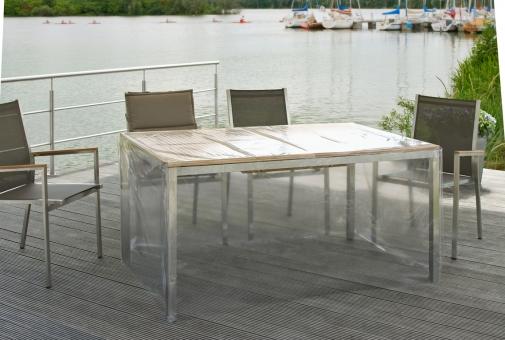 Eigbrecht 142280 Gartenmöbel Schutzhülle für Gartentisch, mit Abhang, rechteckig 120x80x70cm