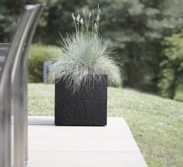 Blumenkübel BASE3 Dublin 27 cm schwarz
