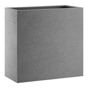 Fiberglas Blumenkasten Esteras Bronley 80er Basalt Grey