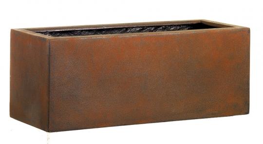Fiberglas Blumenkasten Esteras Gillingham Rust 77cm lang
