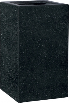 Fiberglas Pflanzgefäß Esteras Deventer Black 67cm hoch