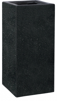 Fiberglas Pflanzkübel Esteras Weert schwarz 87cm hoch