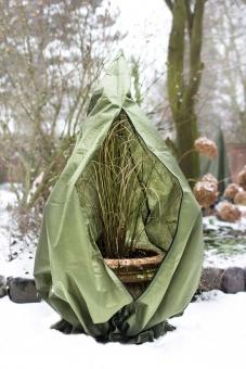 Pflanzen Winterschutz Vlieshaube L olivgrün