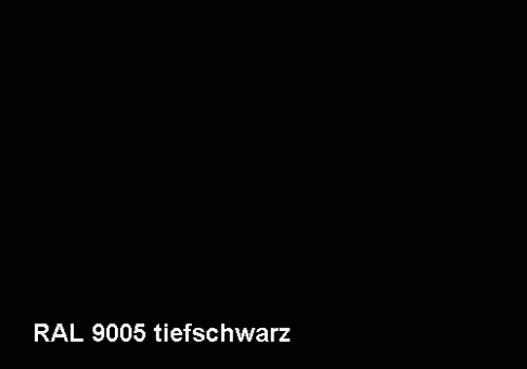 Fiberglas Blumenkübel Cube Hochglanz 40cm Schwarz RAL 9005