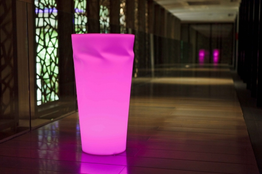 Smart & Green Beleuchteter Blumenkübel Disco