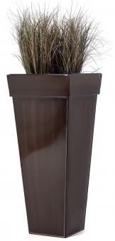 """Zink Blumenkübel """"Shanghai"""" braun 50cm"""