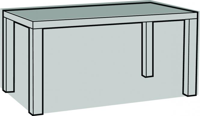 Brandneu 140169 Abdeckhaube Schutzhülle für Gartentisch rechteckig 160x95x70cm HQ48