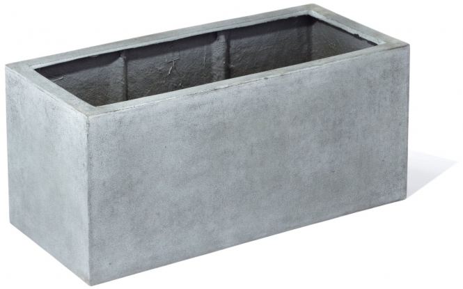 fiberglas blumenkasten esteras sandal betonfarben 100cm lang. Black Bedroom Furniture Sets. Home Design Ideas