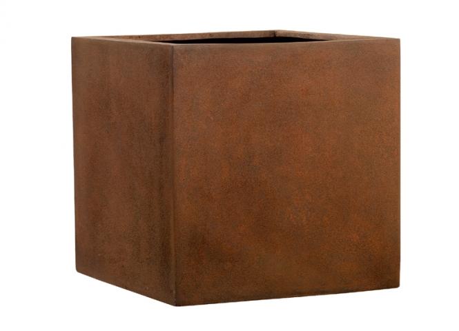 Fiberglas Blumenkübel Esteras Lisburn Rust 47