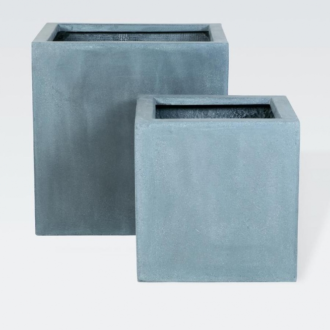 fiberstone pflanzk bel block grau 60x60x60cm. Black Bedroom Furniture Sets. Home Design Ideas