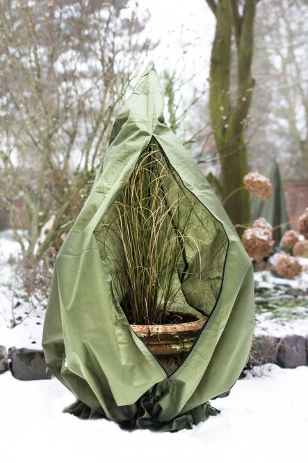 pflanzen winterschutz vlieshaube xxl olivgr n. Black Bedroom Furniture Sets. Home Design Ideas