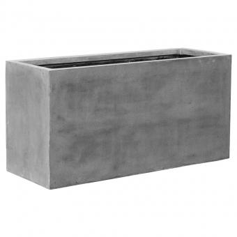 fiberstone blumenkasten jort grau 100x40x50cm. Black Bedroom Furniture Sets. Home Design Ideas