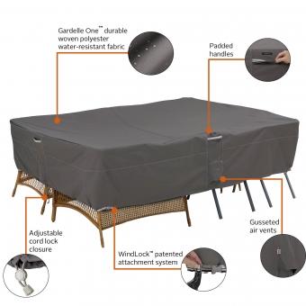 schutzhaube abdeckhaube m belabdeckung f r garten polsterauflagen 116 x 35 x 51 cm. Black Bedroom Furniture Sets. Home Design Ideas