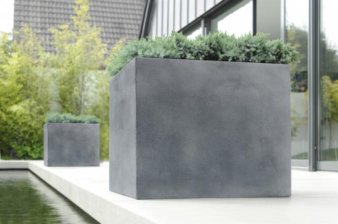 fiberglas pflanzk bel esteras lisburn bleifarben 27cm hoch. Black Bedroom Furniture Sets. Home Design Ideas
