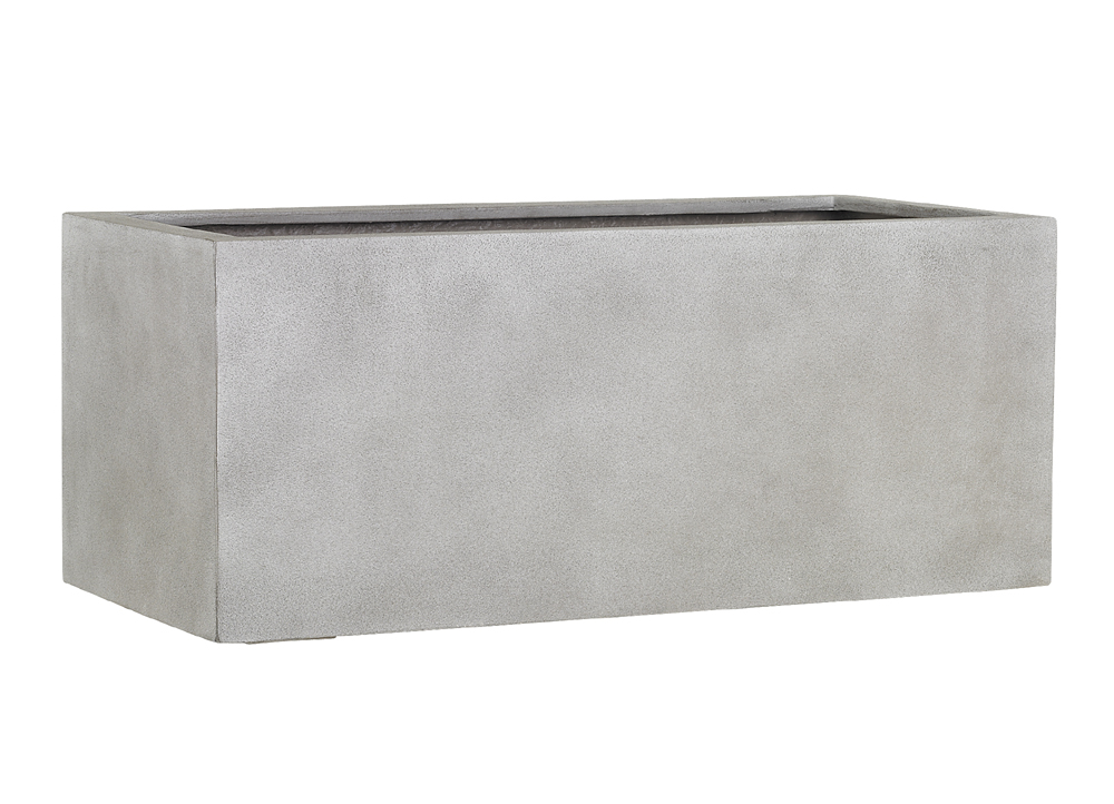 Fiberglas Blumenkasten Esteras Gillingham warm concrete 97cm lang