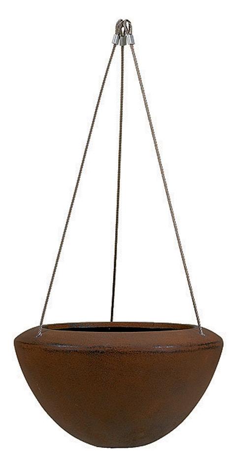 Fiberglas Pflanzgefäß Esteras Witham Rust D 37cm