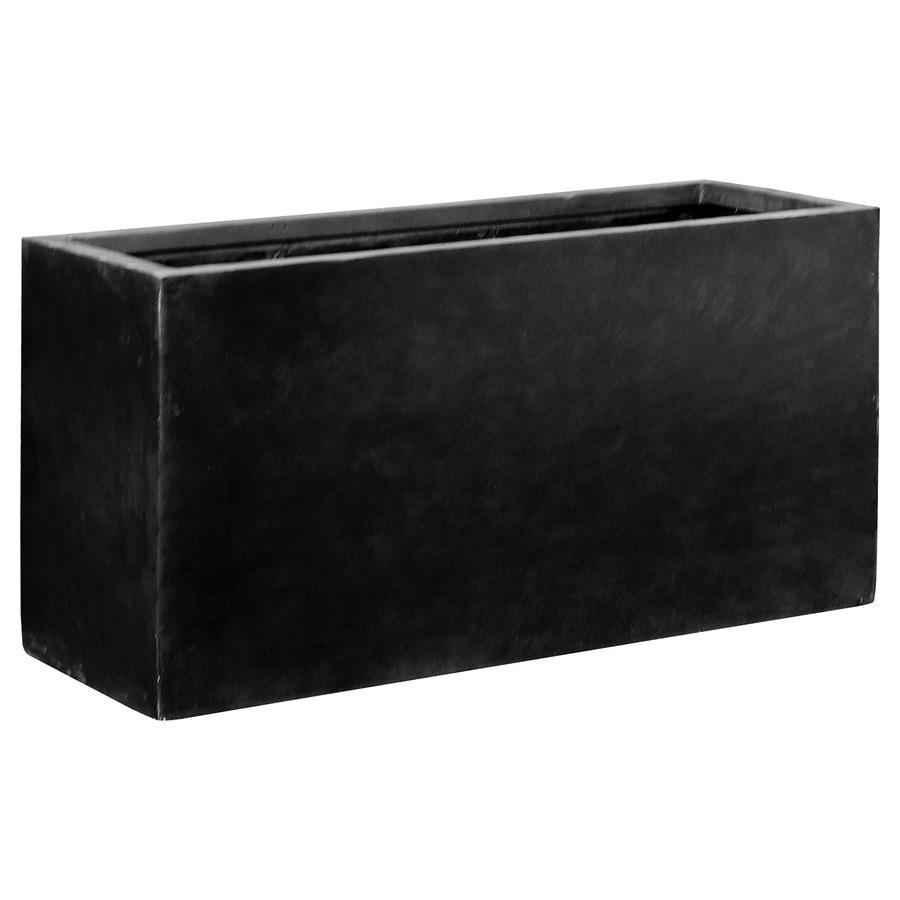 fiberstone blumenkasten jort schwarz 100x40x50cm. Black Bedroom Furniture Sets. Home Design Ideas